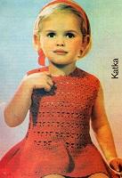 Dívčí šaty Katka s krajkovým vzorem