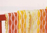 Oranžovo-žlutá vlnkovaná deka