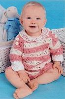 Bílo-růžový dětský pulovr