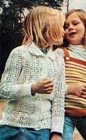 Dívčí bavlněný svetřík
