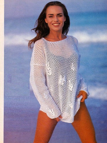 Letní síťový pulovr